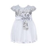 """Платья для девочек """"Baby doll white""""Цена за 1 шт.570,00руб., Цена за уп-ку 2280руб."""