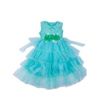 "Платья для девочек ""Magnificent green""Цена за 1 шт.680,00руб., Цена за уп-ку 2720руб."